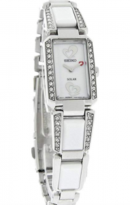 Seiko Solar Tressia SUP185 Go Red Dress Watch, Affordable Ladies' Dress Watch