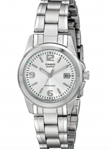 Casio LTP1215A-7ACR Stainless Steel Watch, Affordable Ladies' Stainless Steel Watch