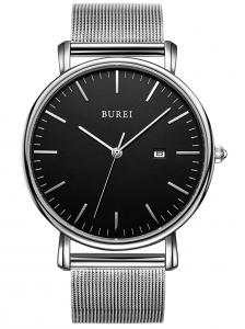 BUREI Men's Fashion Minimalist Wrist Watch, Thin Watches