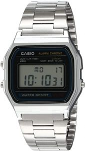 Casio Men's A158WA-1DF Stainless Steel Digital Watch, Casio Watches