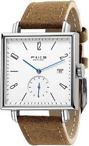 FEICE Unisex Square Men's Bauhaus Automatic Watch
