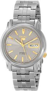 """Seiko Men's """"Seiko 5"""" Grey Dial Automatic Watch (SNKK67)"""