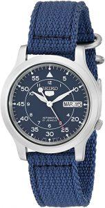 Seiko Men's Seiko 5 Automatic Blue Canvas Watch (SNK807)