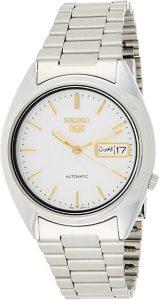 Seiko Men's Seiko 5 Automatic White Stainless Steel Watch (SNXG47)