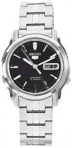 Seiko Men's Stainless Steel Black Dial Watch (SNKK71)