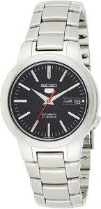 Seiko 5 Men's Automatic Black Dial Stainless Steel Watch (SNKA07)